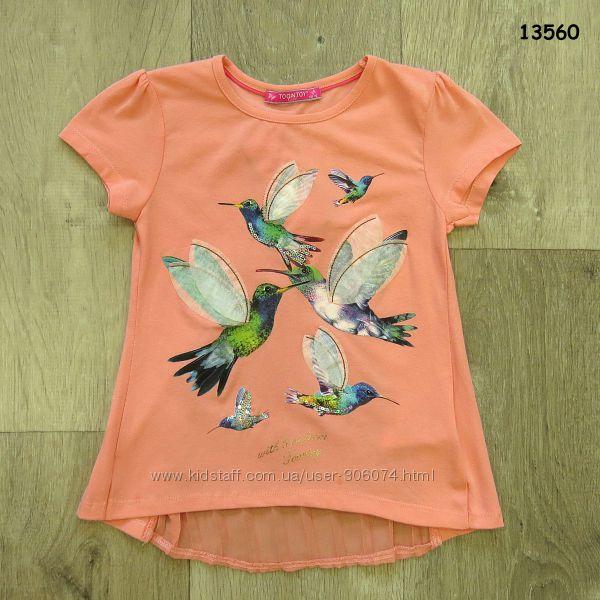 Очень красивая футболка Колибри для девочки на 5, 6, 7, 8 лет