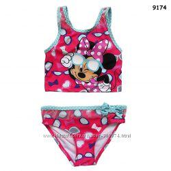 Купальник Minnie Mouse для девочки от 3 до 7 лет топ и плавки