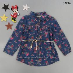 Теплая рубашка-туника для девочки