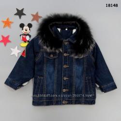 Теплая джинсовая куртка для мальчика