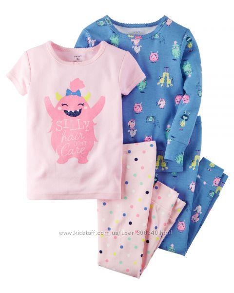 Пижамы Carters 2Т, 3Т, 4Т, 5Т