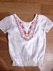 Блузка вышиванка на 2-3года США Childrens place