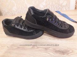 Туфли кеди натуральна замша кожа