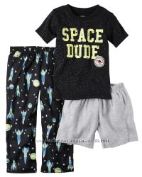 Пижама тройка для мальчика Carters Космос Арт. A40596 2T