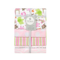 Carters Комплект фланелевых пеленок для девочки картерс A41048