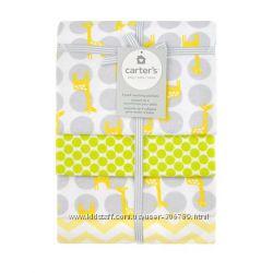 Комплект фланелевых пеленок Carters жирафы картерс A41049