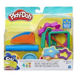 Play-Doh пластилин и набор инструментов Shapes and Tools Set