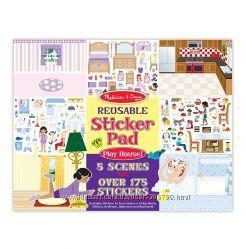Melissa & Doug многоразовые наклейки Мой дом Play House Reusable Sticker P
