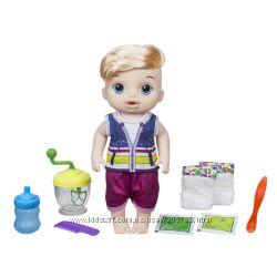 Baby Alive Пупс Sweet Spoonfuls кукла мальчик с блендером Blonde Baby Doll