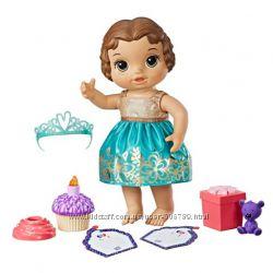 Baby Alive Кукла пупс праздник день рождение Cupcake Birthday Baby