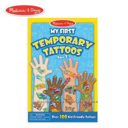 Melissa & Doug тату 100 шт My First Temporary Tattoos 100 Kid-Friendly Ta
