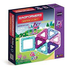 Magformers Магнитный конструктор 14 деталей розовый Inspire Set 14-pieces