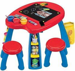 Crayola Парта стол со стульчиками Creativity Play Station Desk & Chair Set