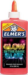 Elmers клей для слаймов слайм светящийся в темноте розовый 266 мл electrify
