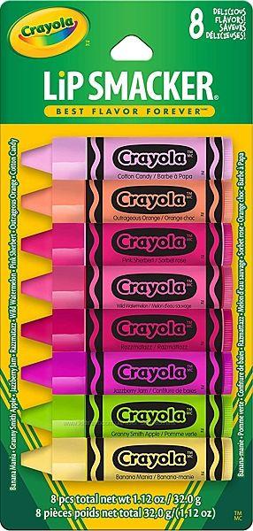 Crayola lip smacker balm набор детских помад бальзамов для губ 8 ароматов p