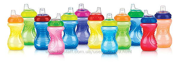 Nuby бутылочка поильник no-spill easy grip cup цвета в ассортименте