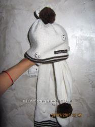 Комплект шапка и шарф Wojcik 46-48 см новый с бирками на девочку