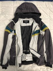 Термо куртка серая с белым Glissade Ski Wear рост 152