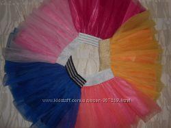 Фатиновая юбка, разные, 122-134р.