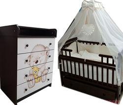 Акция от производителя Полный комплект мебели в детскую. Новое.