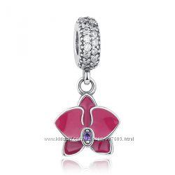 Шарм-подвеска Орхидея для браслета Pandora Пандора