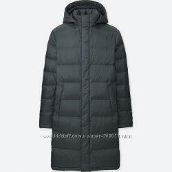 Пальто пуховик мужское Ультралегкое теплое Юникло Uniqlo