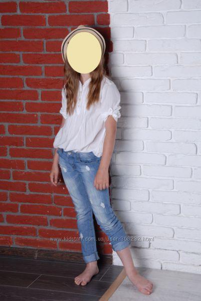 Белая рубашка Beneton