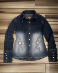 Джинсовый пиджак 146р
