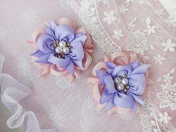 Нежные розовые бантики