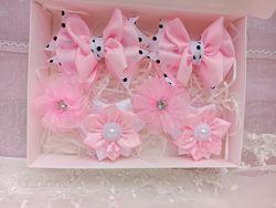 Подарочный набор бантиков заколок для девочки