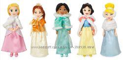 Большие плюшевые куклы Бэль Золушка Белоснежка Plush Doll in Winter Disney