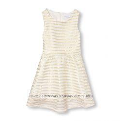 Платье белое с золотом для девочки Children&acutes Place США