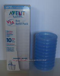Контейнеры Philips Avent Via для хранения грудного молока - 240мл