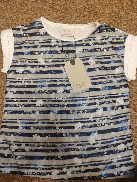 Нарядная футболка Zara 5-6 лет рост 116 см