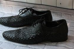 Обалденные дышащие лакированные туфли, кож