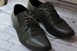 мужские серые осенние туфли
