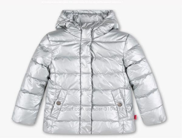 Фирменная демисезонная куртка серебро, C&A, Palomino, Германия, 122
