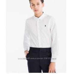 Фирменная белая рубашка C&A, р. 146 на рост 140 см, Германия, качество