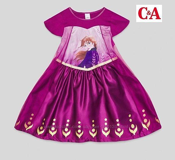 Фирменное платье C&A, р.122/128, Холодное сердце, Германия