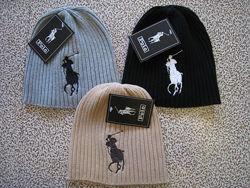 Стильные вязаные шапки RALPH LAUREN хлопок шапка ралф лорен