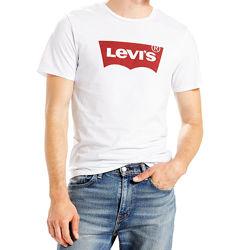 Безшовна футболка levi&acutes white batwing graphic з великим логотипом