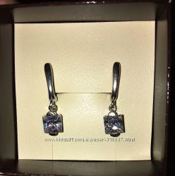 Серебряные серьги-подвески 925