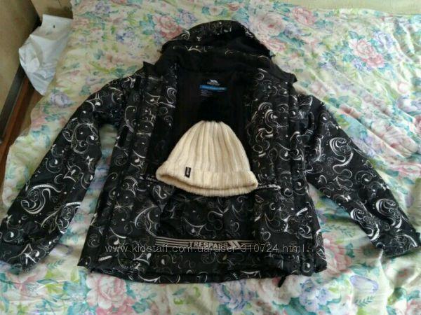 Женский горнолыжный костюм комплект Trespass куртка  штаны  шапка RipCurl.