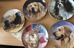 Тарелки с собаками подарок к НГ Германия декоративные