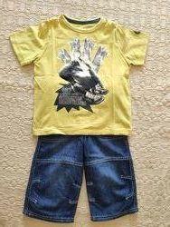 Яркая футболка M&S для мальчика, 5-6 лет, р. 116 см, хлопок