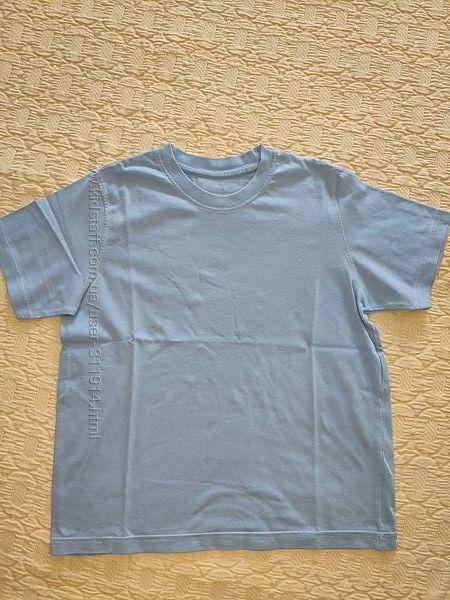 Голубая футболочка M&S для мальчика, на 7 лет, р. 122 см
