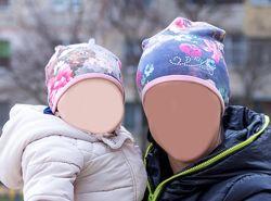 Шапки мама  дочь 46, 54 family look