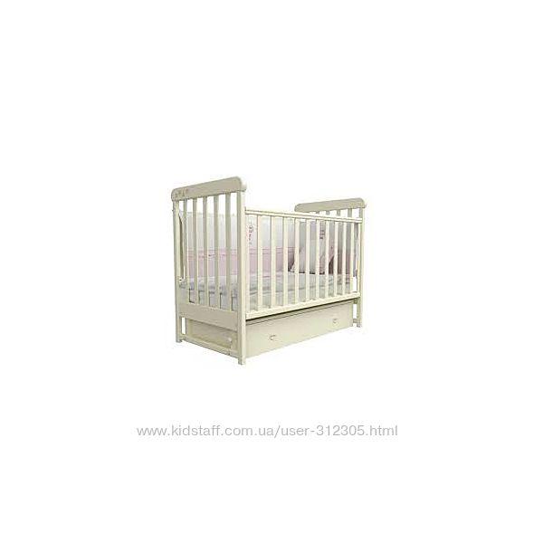 Детская кроватка Верес Соня ЛД12 слон. кость/маятник/ящик/лапки