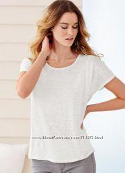 Женская футболка из чистого льна размер евро 44-46 ТСМ TCHIBO