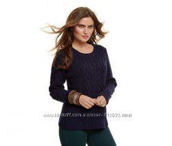Уютный, теплый свитер с узором косы размер евро 48-50 ТСМ TCHIBO